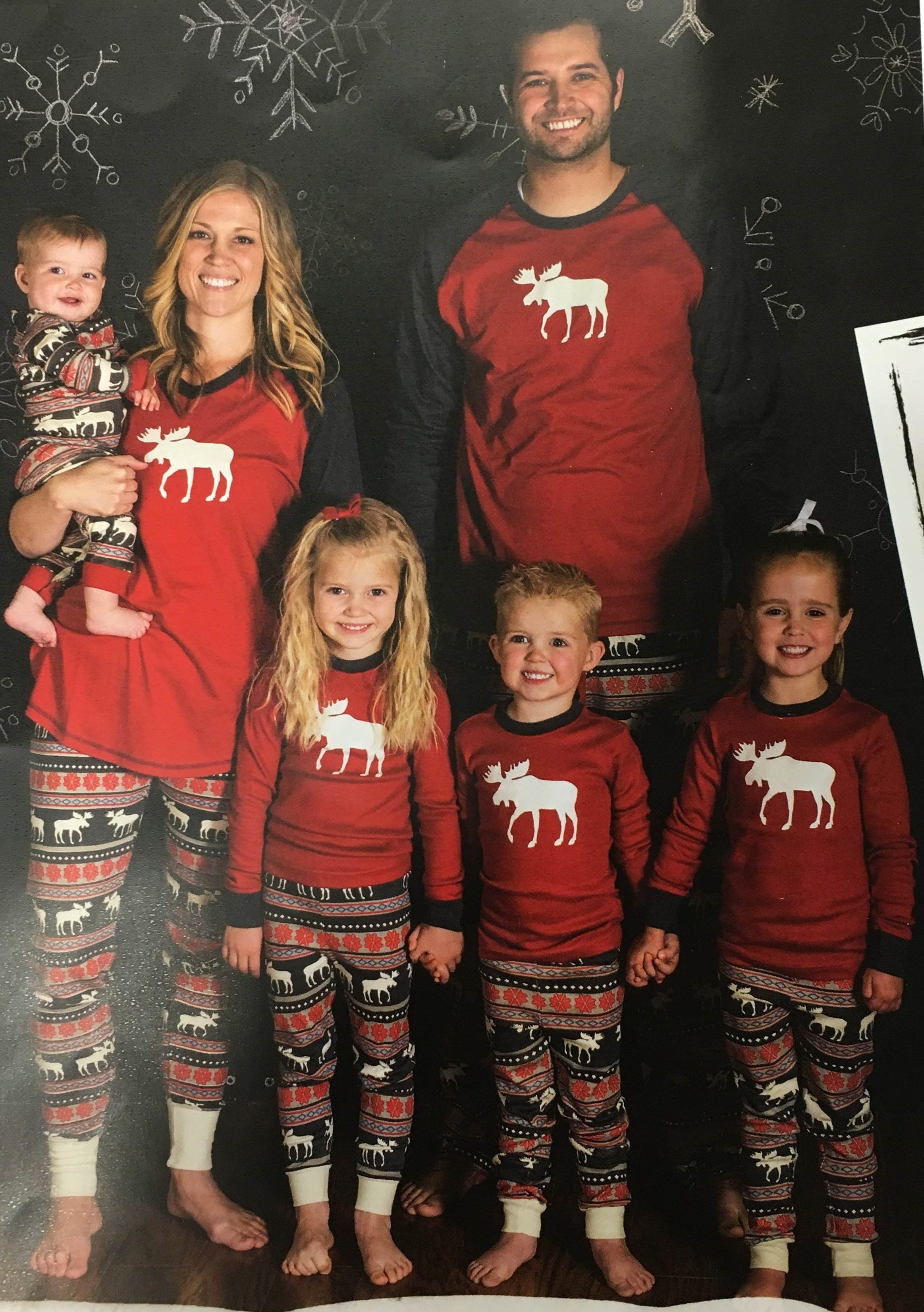 7b403f0895 Lazy One Family Matching Moose Fair Isle Pajamas