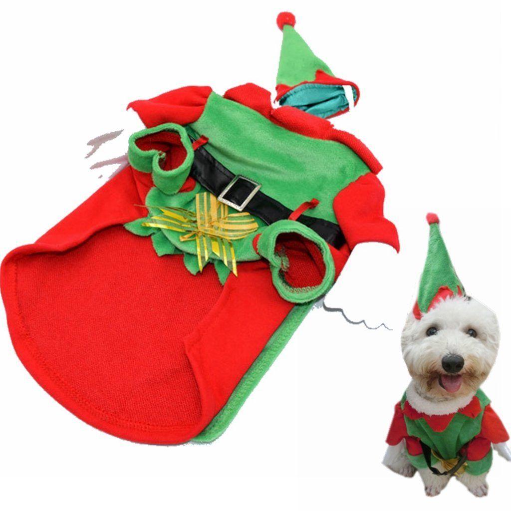 Visky Cat Santa Costume Christmas Cltohes Dog Winter Coat M