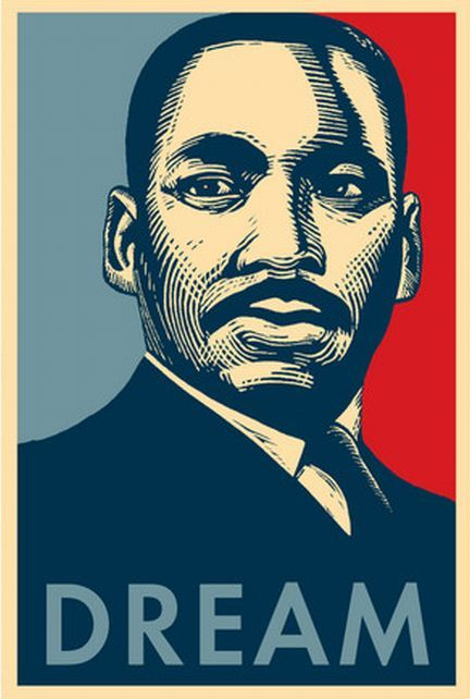 Martin Luther King Jr Day Clip Art | Martin Luther King Jr Day 2016 | Jr art, Shepard fairey art, Shepard fairey