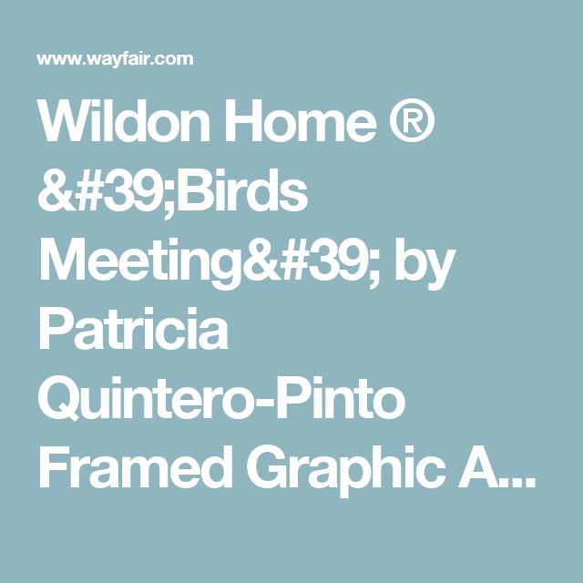 Wildon Home ® 'Birds Meeting' by Patricia Quintero-Pinto Framed Graphic Art | Wayfair