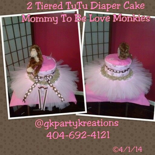 2 Tiered Diaper Cake