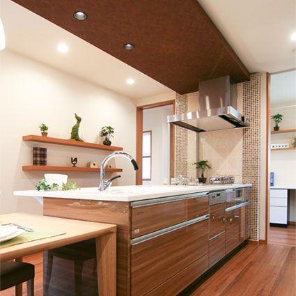 キッチン リフィット I型 ペニンシュラ型 対面式 レイアウトの設置