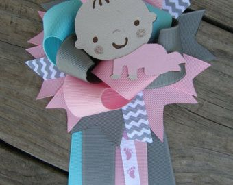Baby Girl  Baby Shower  Corsage Baby Shower Pin