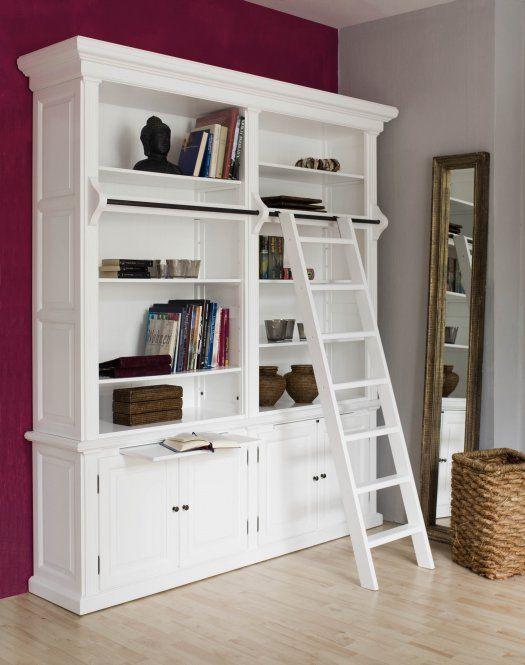 Bücherschrank WASHINGTON 2er weiß B213cm Massiv | Blog Dekoration ...