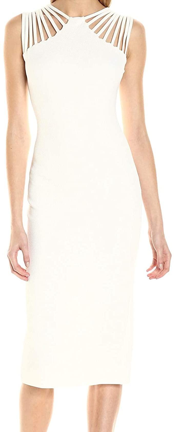 Dress The Population Women S Gwen Cutout Stretch Midi Dress At Amazon Women S Clothing Store In 2021 Dress The Population Stretch Midi Dress Dresses [ 1682 x 679 Pixel ]