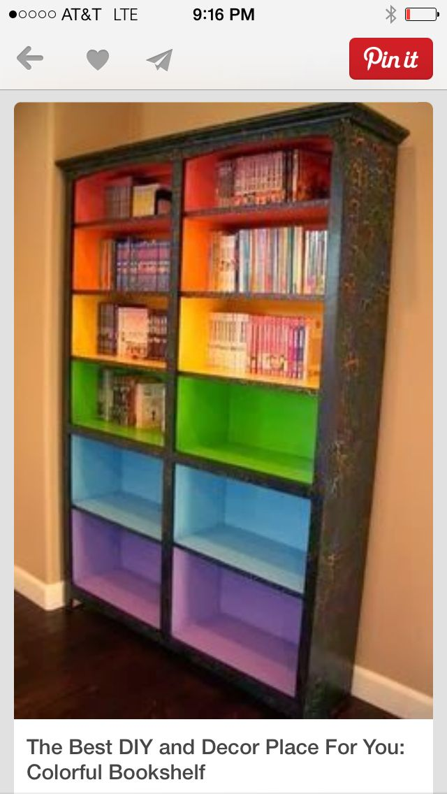Rainbow Bookcase Colorful Bookshelf Home Furniture Projects