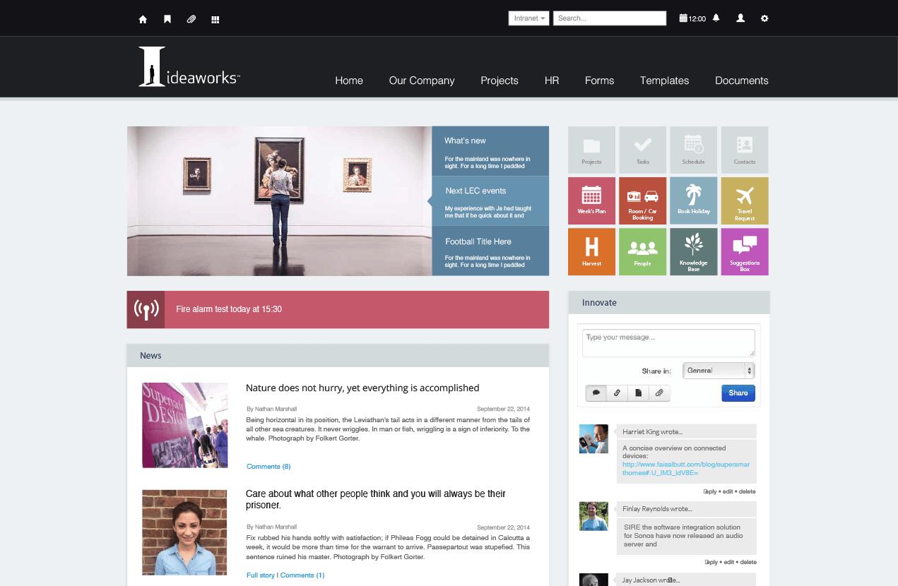 Intranet Design Examples Sharepoint Design Portal Design Web Graphic Design