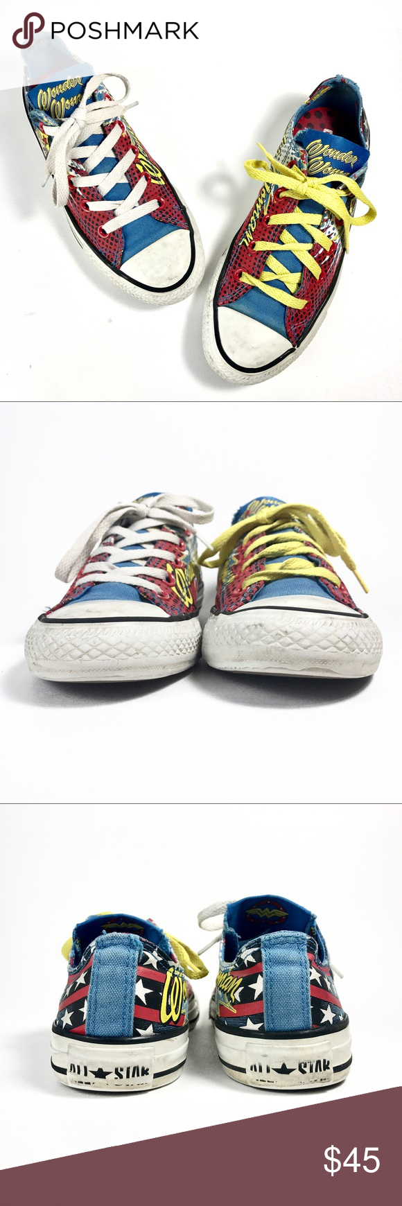 31f4ffcfb9fa Converse All Star Wonder Woman Unisex Lp Sneakers Condition  Good pre-owned  condition!