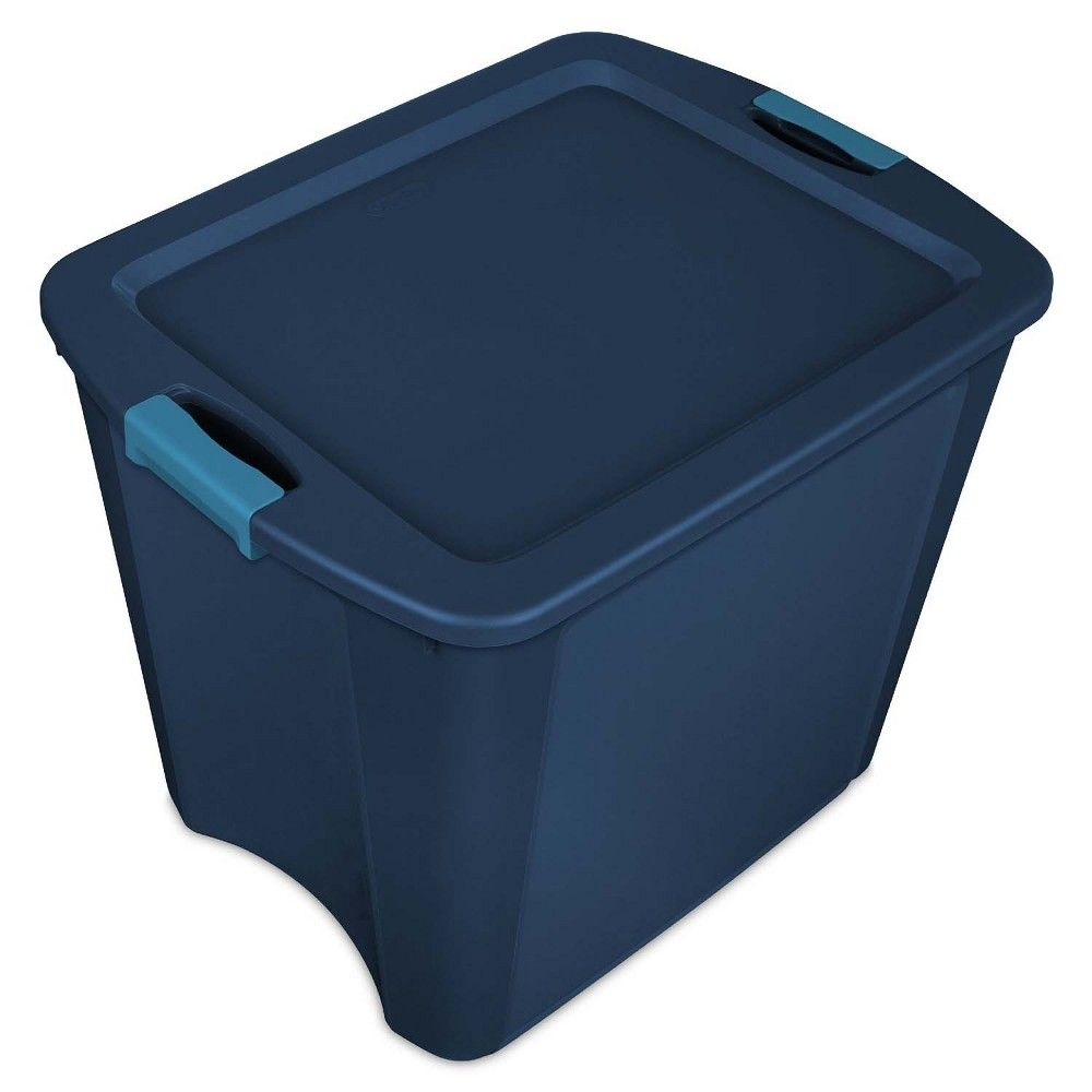 Sterilite 26 Gallon Latch And Carry Storage Tote True Blue 14487404 12 Pack Tote Storage Storage Bins Storage