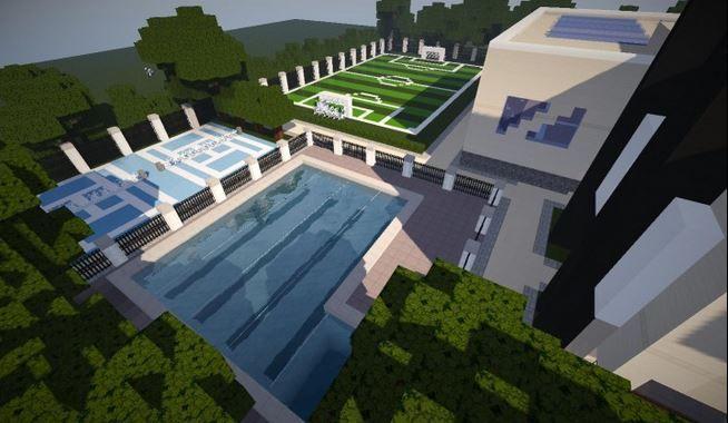 how to make a modern school in minecraft