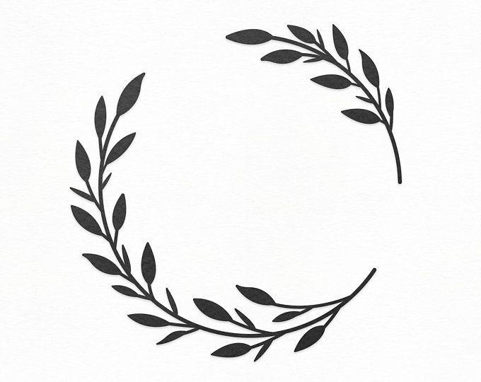 Photo of Flower Wreath SVG Craft Pattern, Floral Frame SVG, Flower SVG, Wreath Clipart, Silhouette Cut…