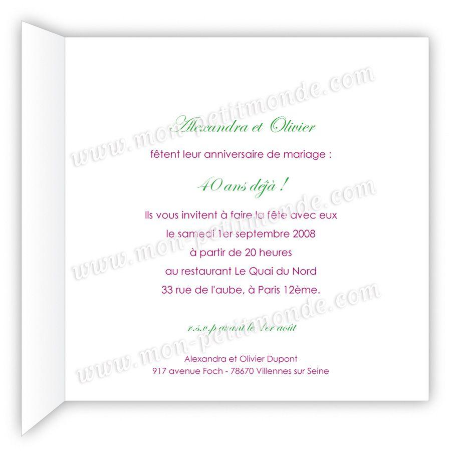 Carte Invitation Anniversaire Modele Carte Invitation Anniversaire Inv Texte Invitation Anniversaire Invitation Anniversaire 40 Ans Invitation Anniversaire