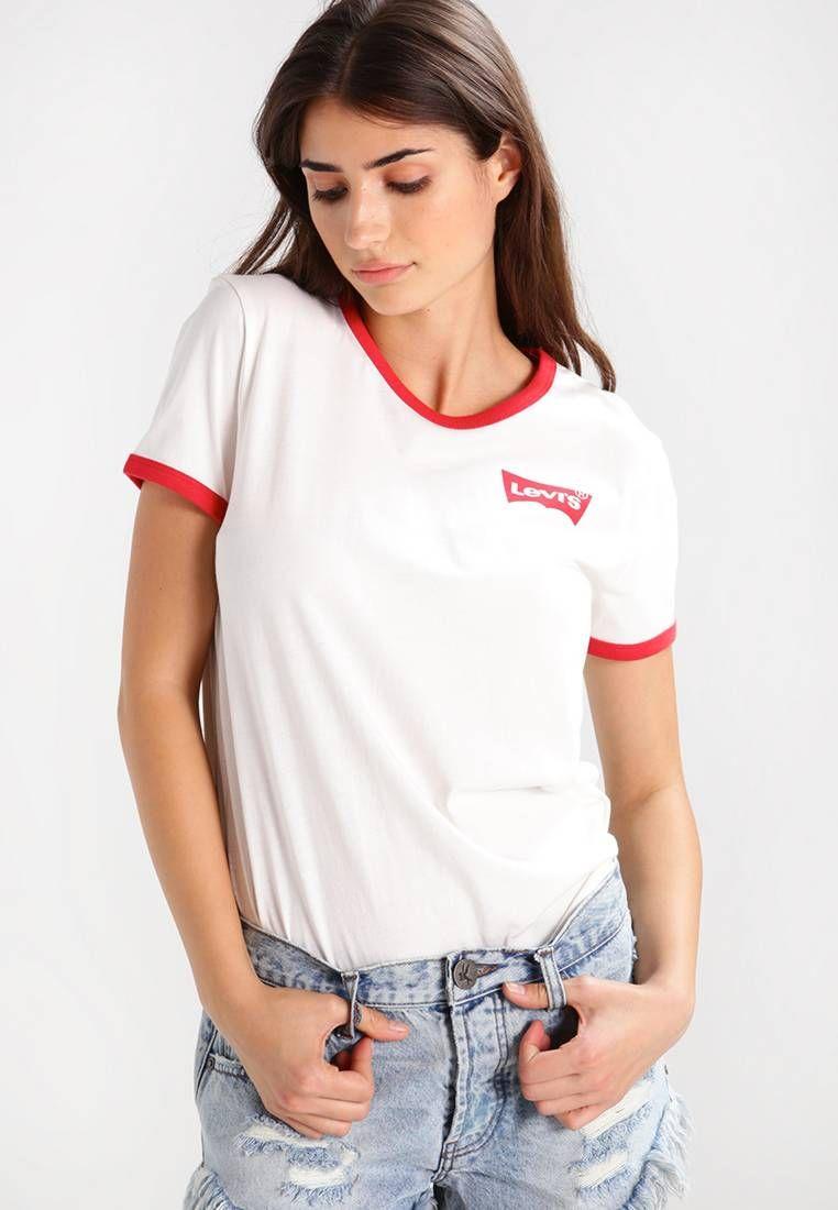 Perfect Ringer Print T Shirt Whitered At Zalandocouk