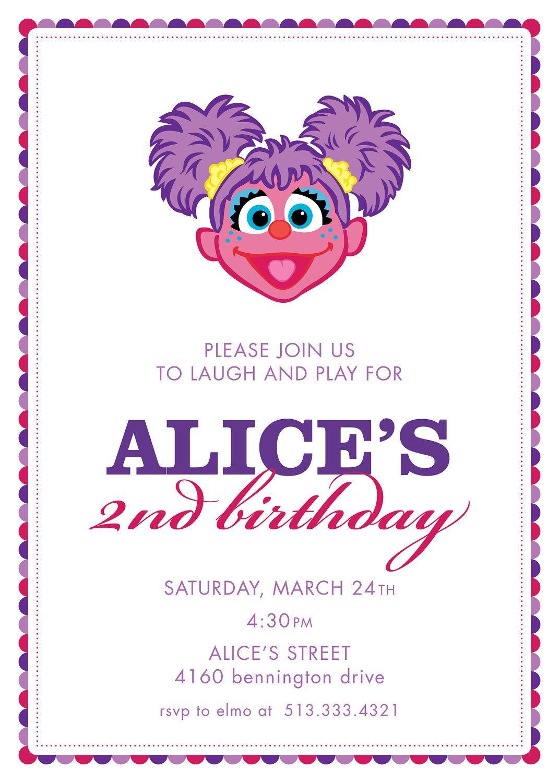 Abby birthday party invitation - Simple idea   partyy   Pinterest ...