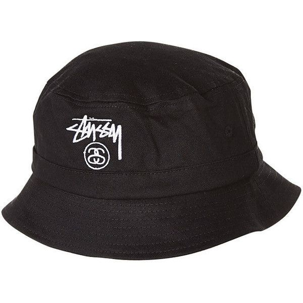 c6385b7636d2f STUSSY BASIC BUCKET HAT BLACK ( 30) ❤ liked on Polyvore featuring  accessories