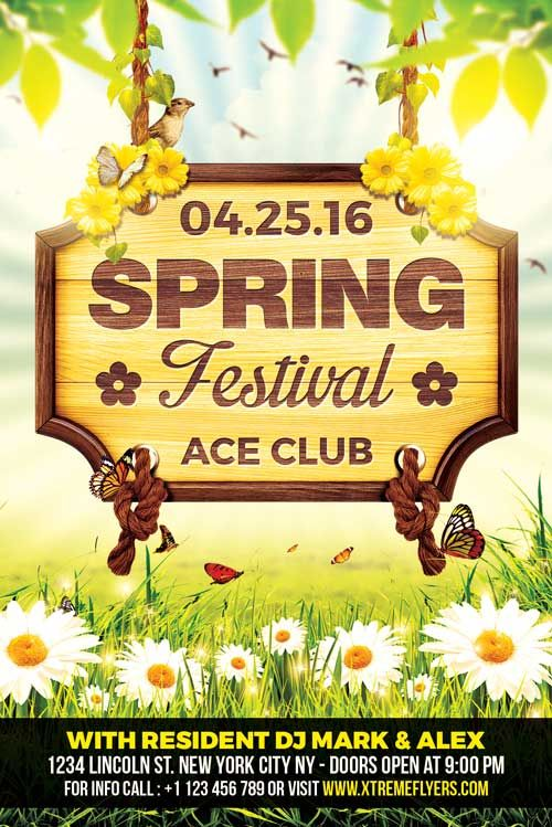 Spring Festival Flyer Template  Church    Flyer