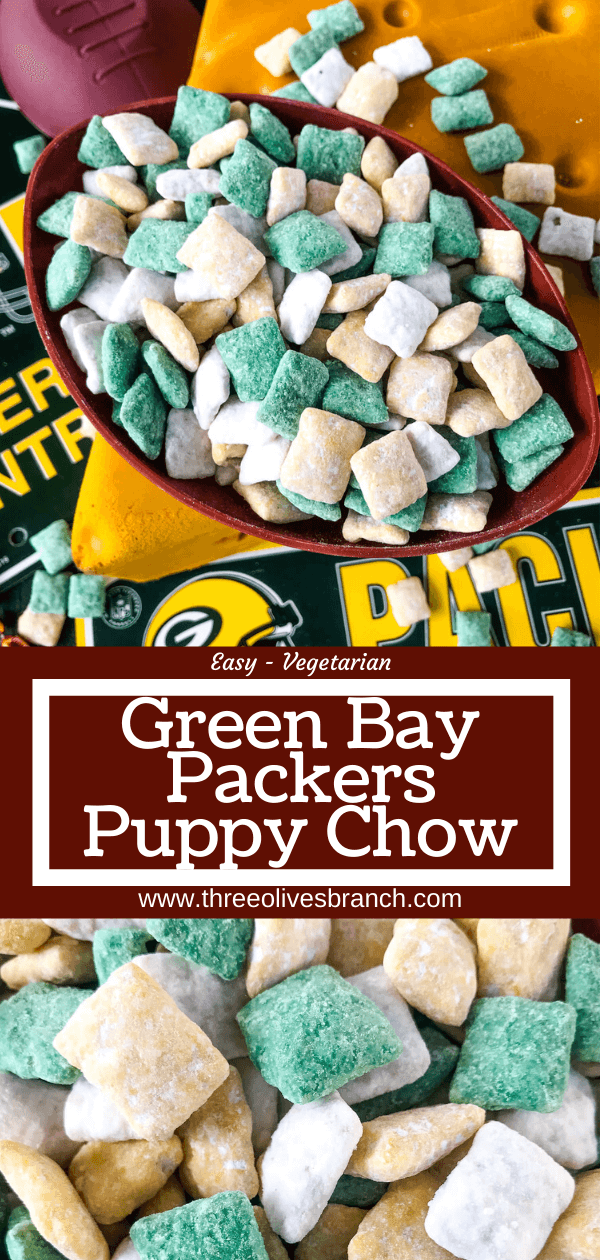 Green Bay Packers Puppy Chow  Branch of three olives Green Bay Packers Puppy Chow  Branch of three olives