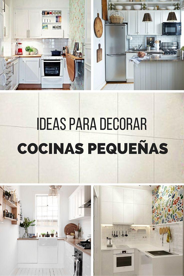 Pocos metros cuadrados no todo est perdido te traemos for Ideas para decorar cocinas pequenas