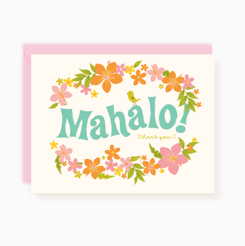 Thank You Notes  Mahalo  Pink Envelopes Envelope Sizes And Hula