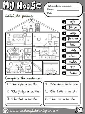 My House Worksheet 6 B W Version Com Imagens Aulas De