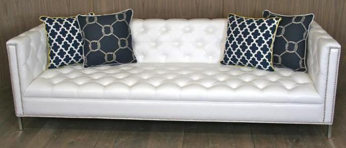 Superb White Tufted Sofa