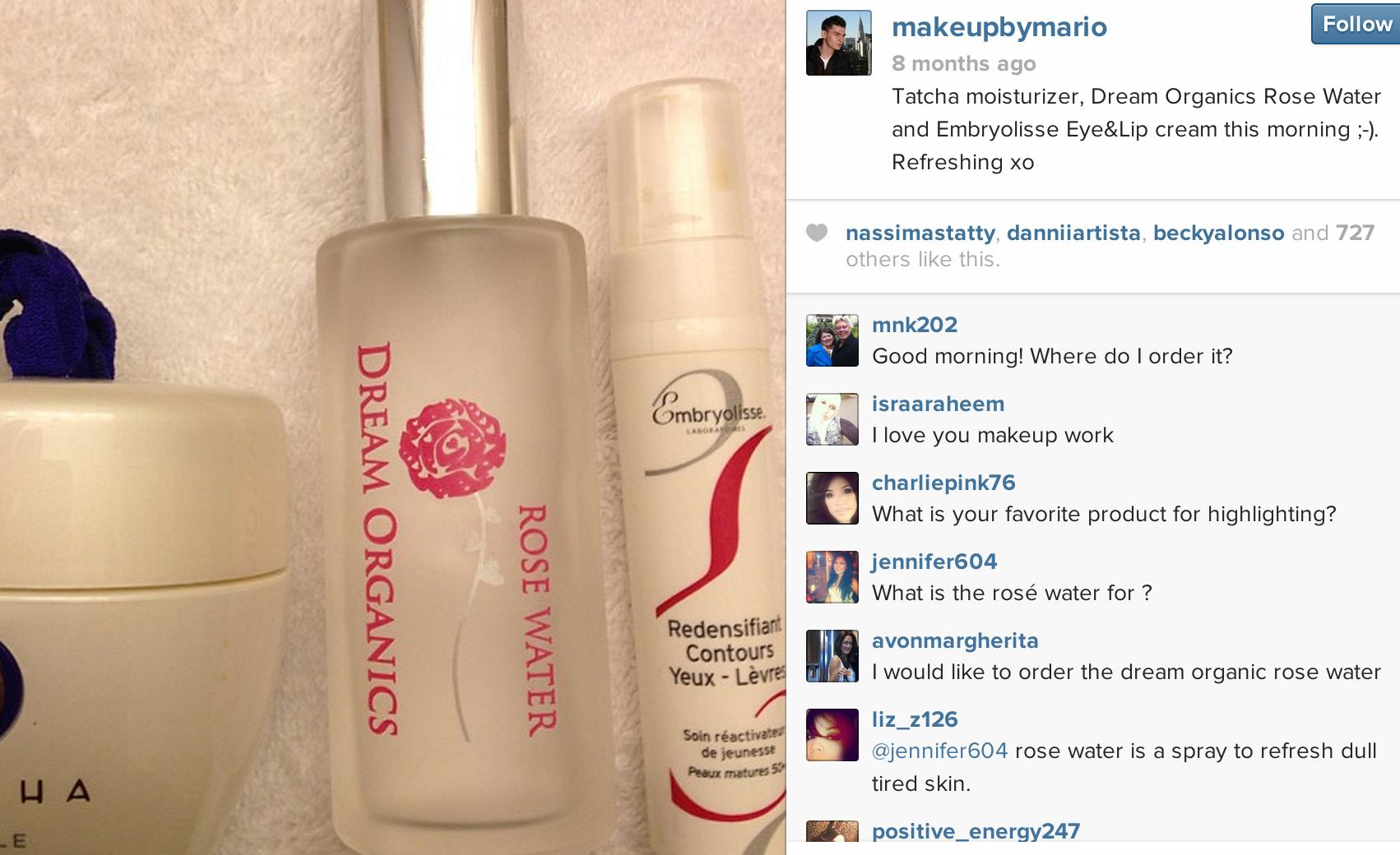 Follow @Mario Dedivanovic posts featuring Dream Organics on Instagram!