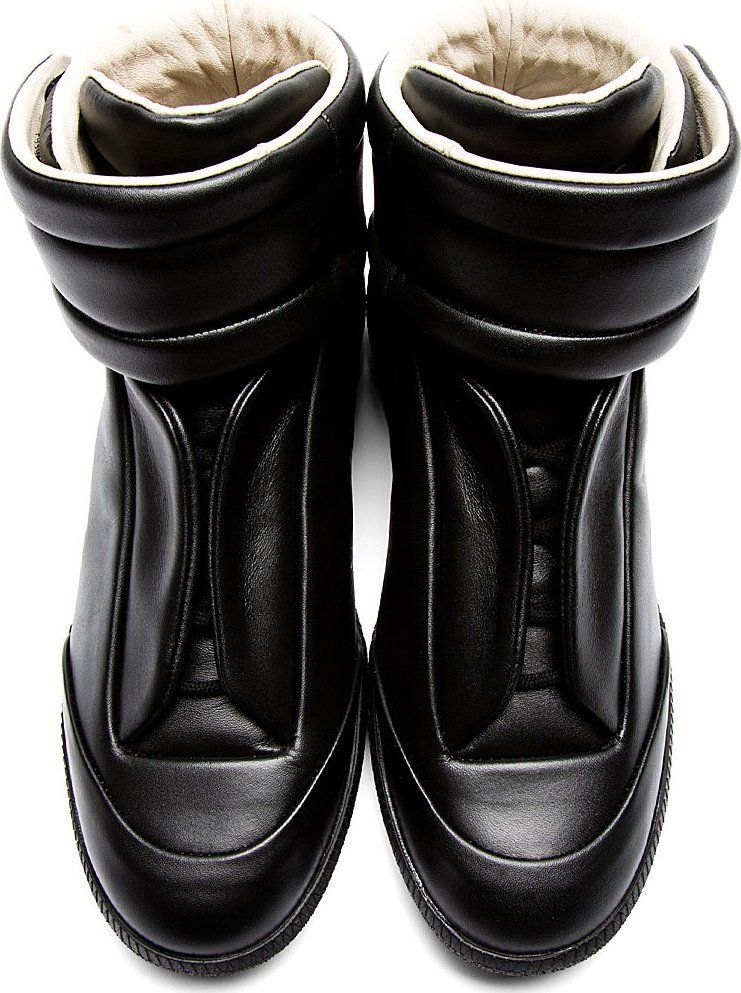maison margiela black shoes