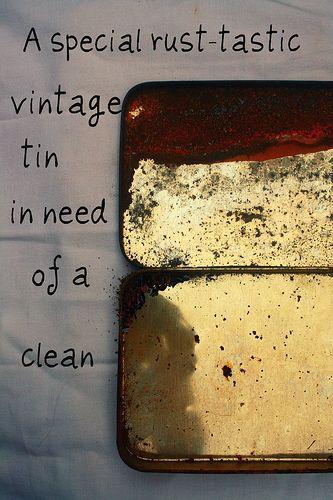 DOLLS HOUSE Cleaning Metal Tin =  FLOOR POLISH