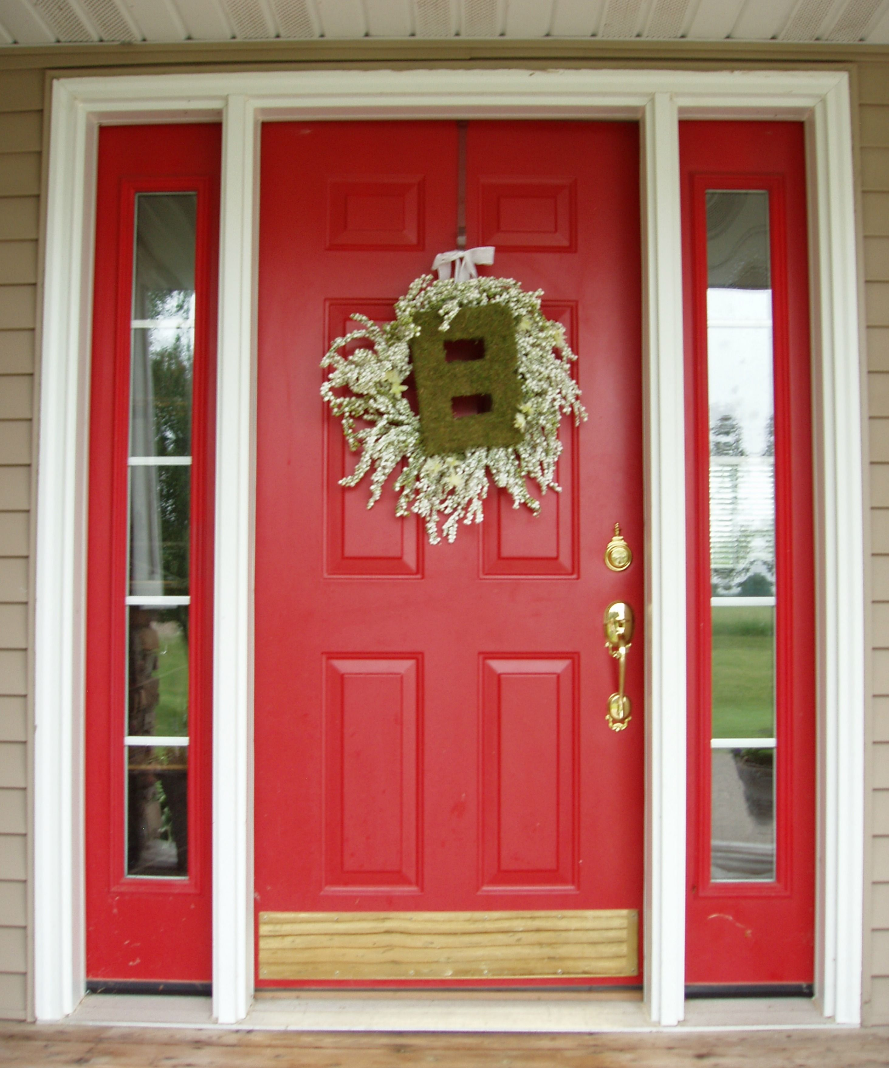 nice how to paint a front door red good looking