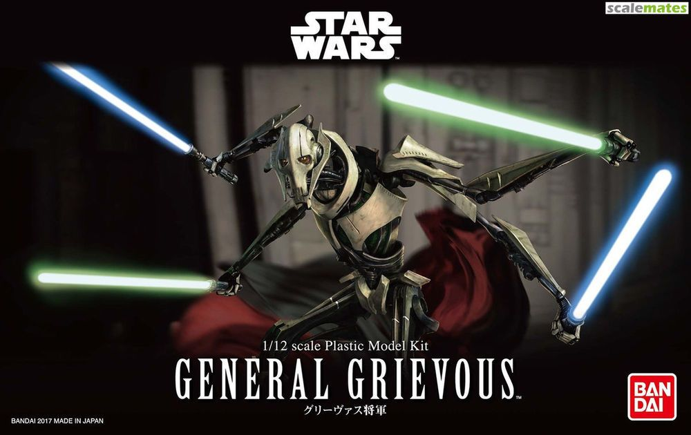 Star Wars General Grievous Modellbausatz 1//12 von Bandai Episode III