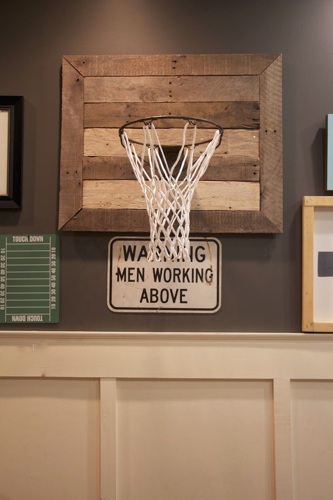 thrifty Thursday~{diy basketball hoop} | Pinterest | Basketball hoop ...