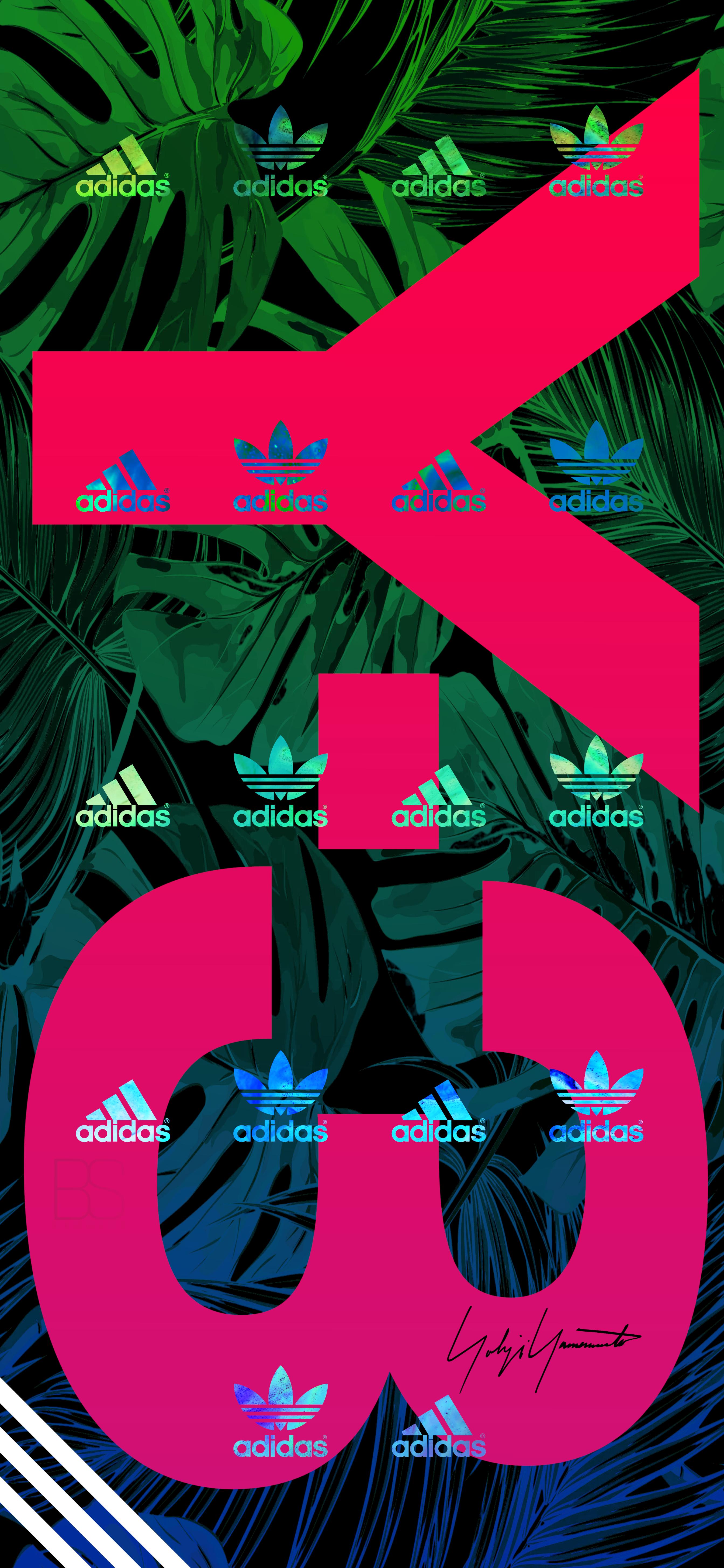 Adidas iPhone X Series Wallpaper 배경화면