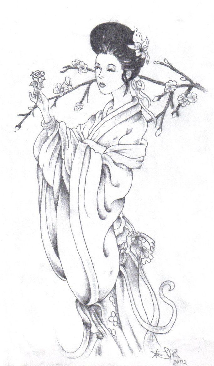 Simple geisha sketch