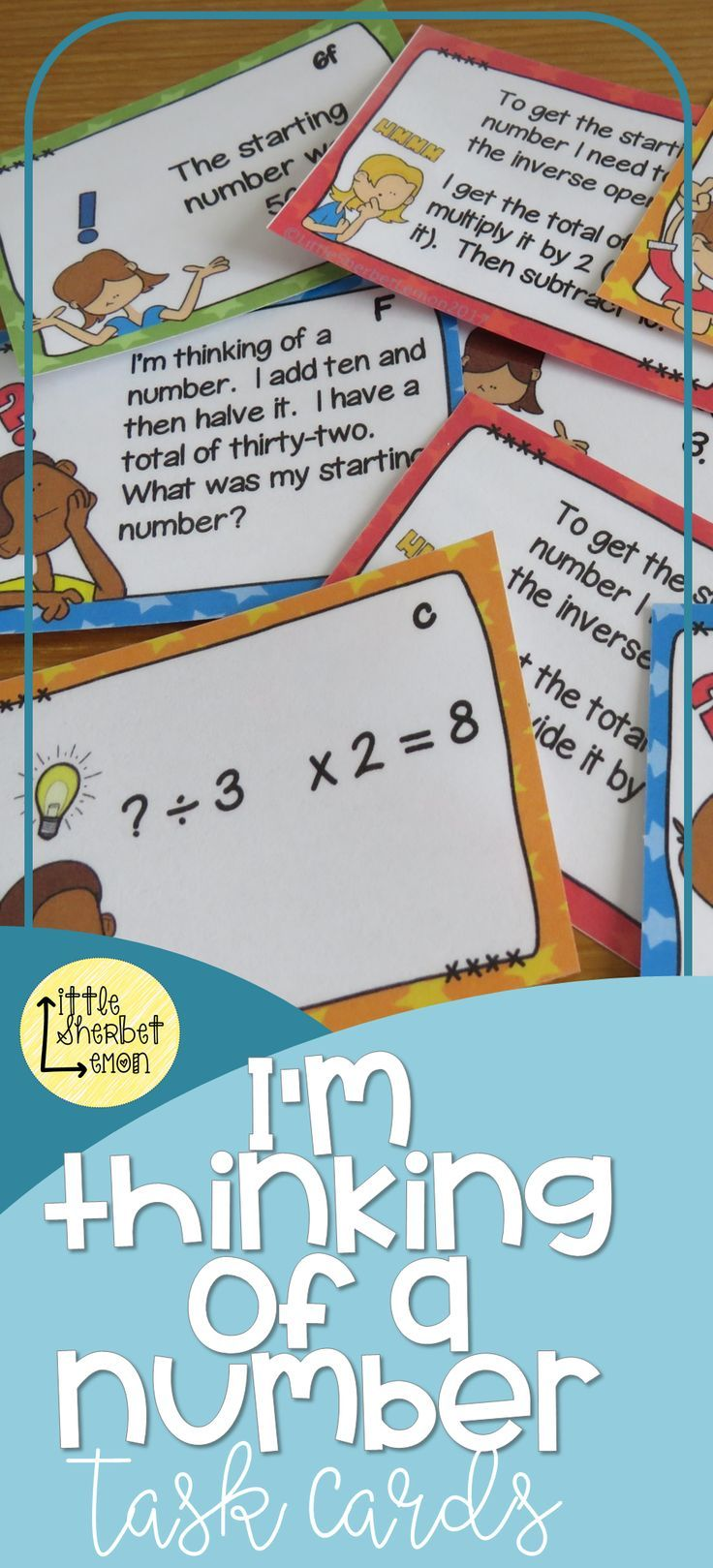 I\'m Thinking of a Number... Using the Inverse Task Cards ...