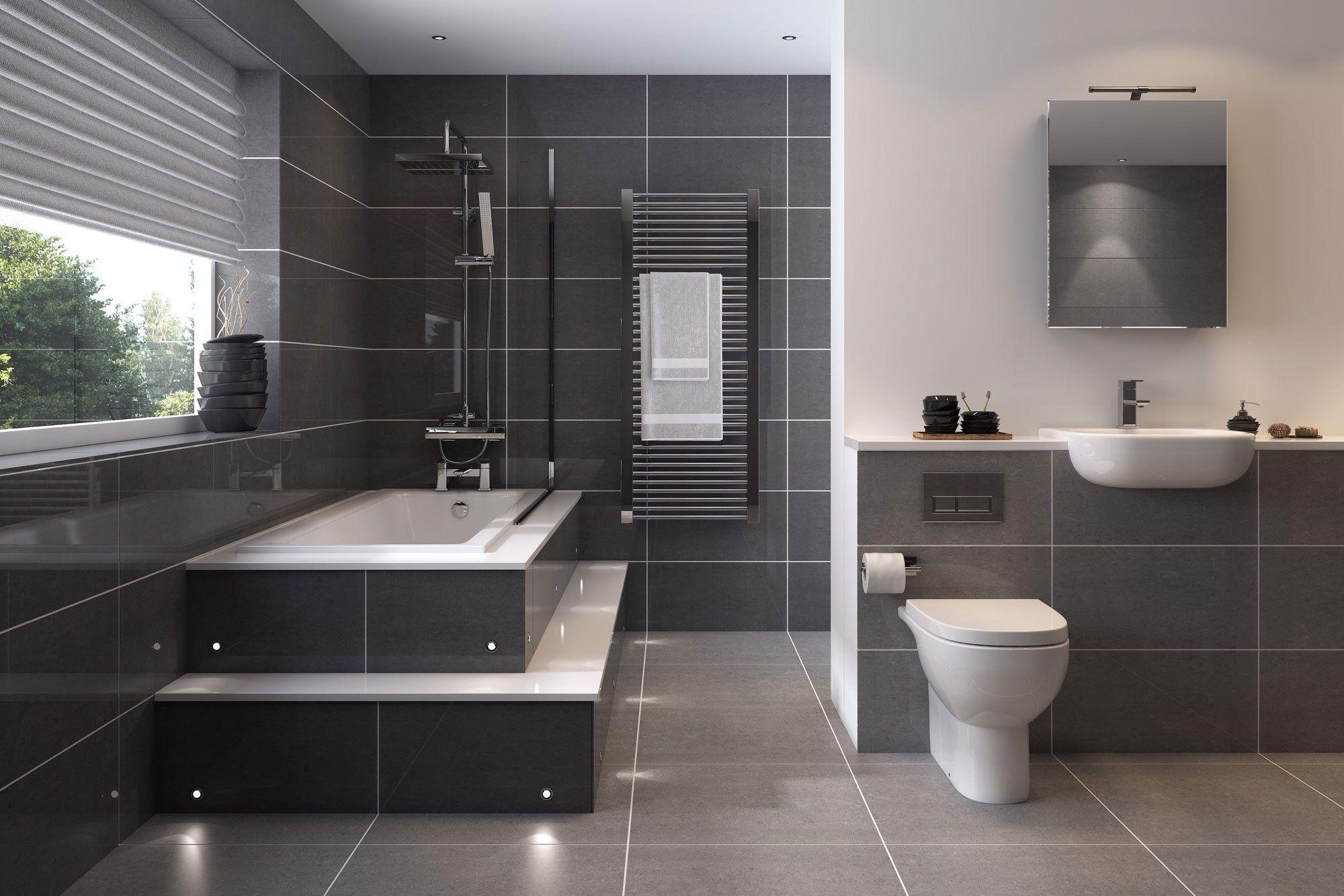 Wie Sie Ihr Badezimmer in Grau einrichten – 40