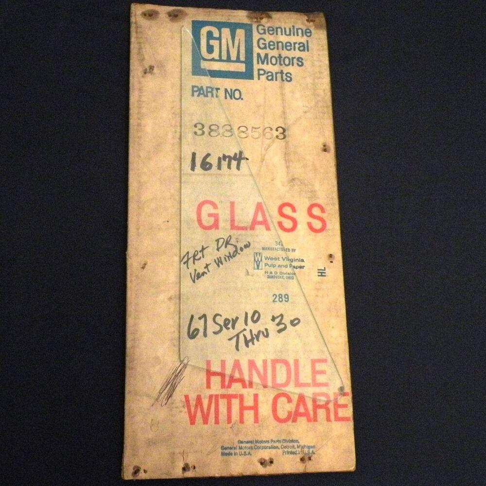 Nos 1967 Chevy Pickup Or Truck Front Door Ventilator Safety Glass Gm 3888563 Chevy Pickups Safety Glass Trucks