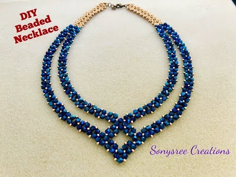 Photo of Party Wear Beaded Necklace    DIY Beaded Necklace    How to make Beaded Necklace