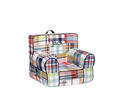 My First Anywhere Chair Insert And Slipcover Madras Navy