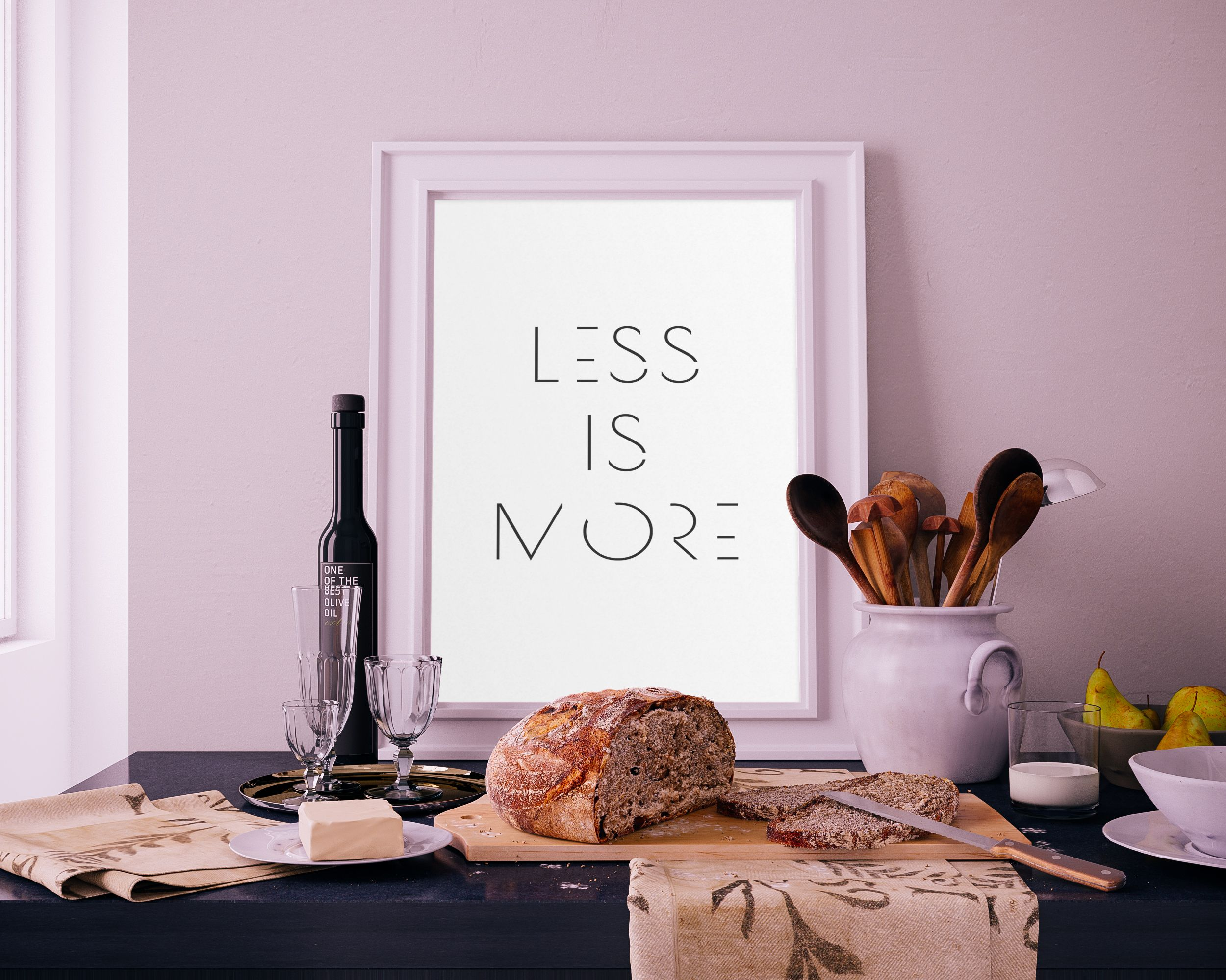 Less is More Digital Print, Motivational Print, Yoga Gifts For Women ...