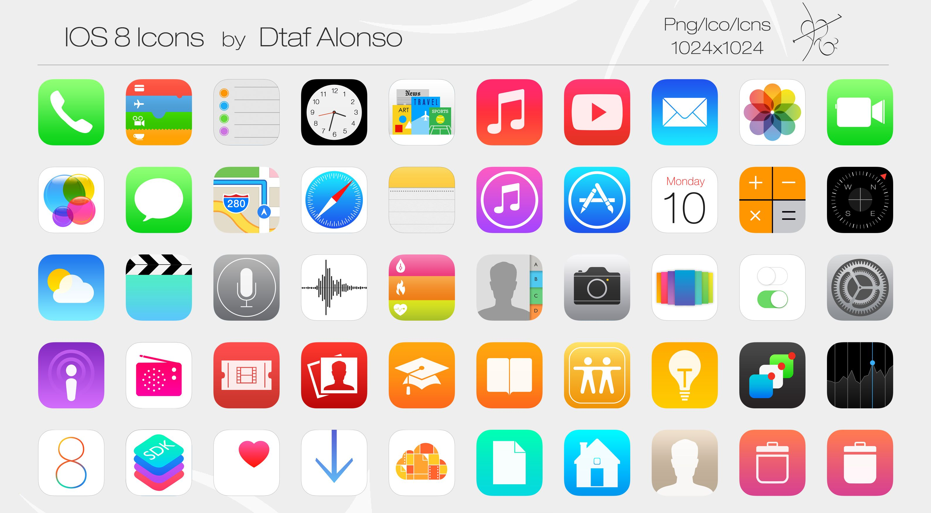 iOS 8 Icons by on DeviantArt