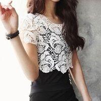 Hot Elegant Bohemia Korean Fashion Crochet Lace Women Knit Tops ...