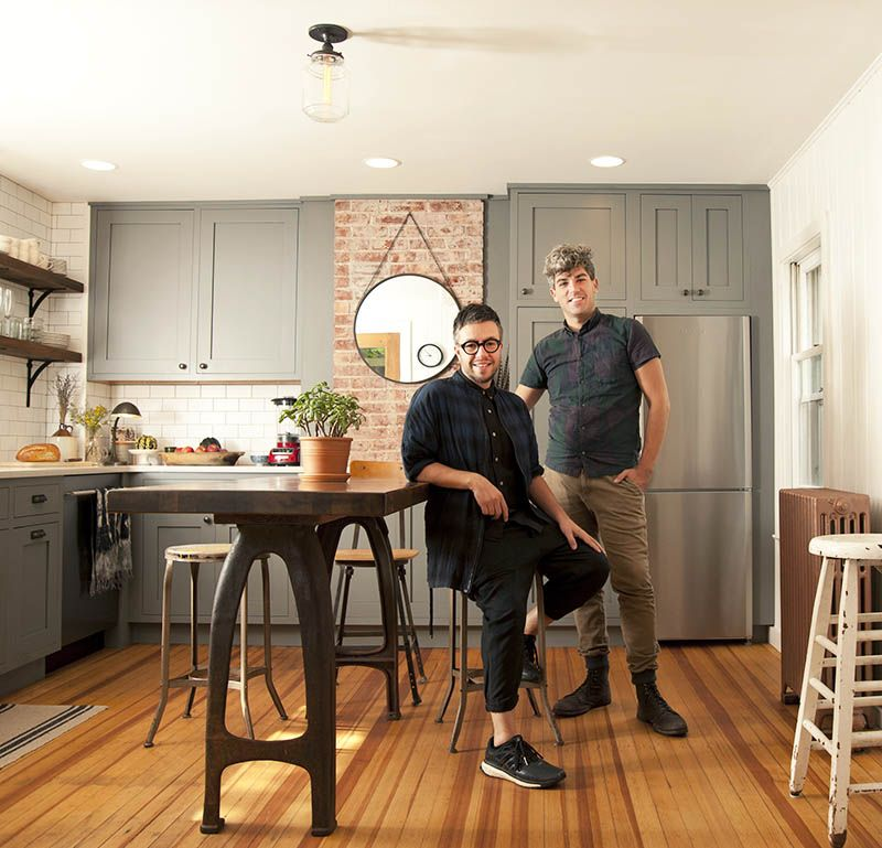 Escape Gray Kitchen: A Brooklyn Couple Finds Their Saugerties Country Escape