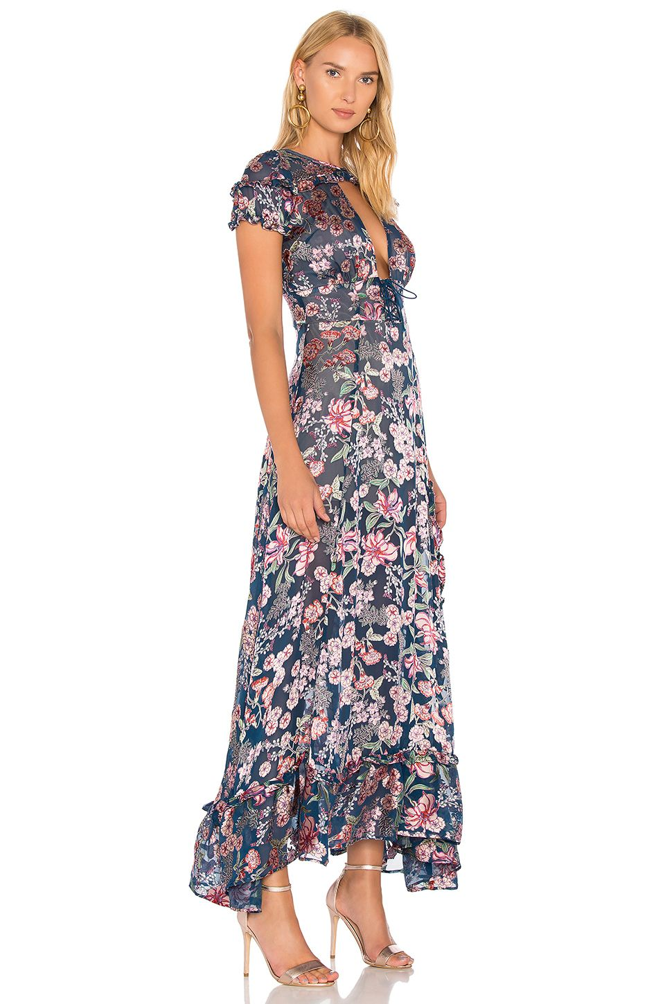 b4cafea7a22 For Love   Lemons Flora Maxi Dress in Navy Floral