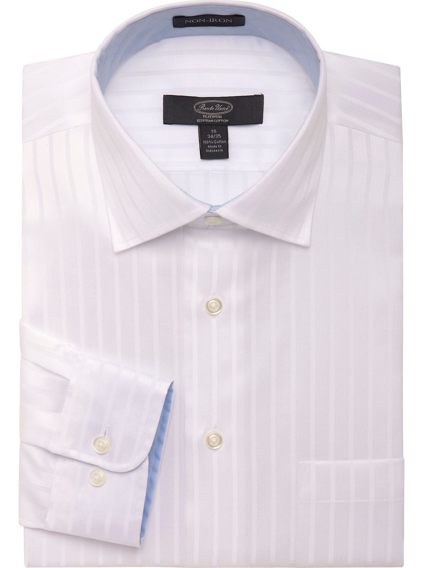 Dress Shirts Pronto Uomo Platinum Egyptian Cotton Dress Shirt