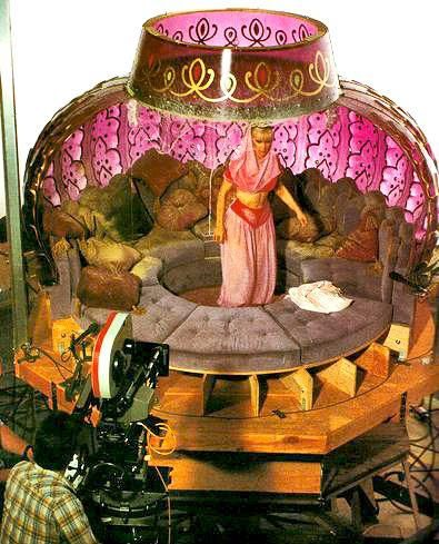 """The actual set for the inside of """"I Dream of Jeannie""""'s bottle."""