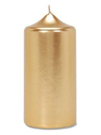 """Large Pillar Candle in Metallic Gold 2.75"""" Wide x 6"""" Tall ❤ Darice, Inc."""