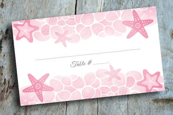 Destination Wedding Starfish Escort Cards