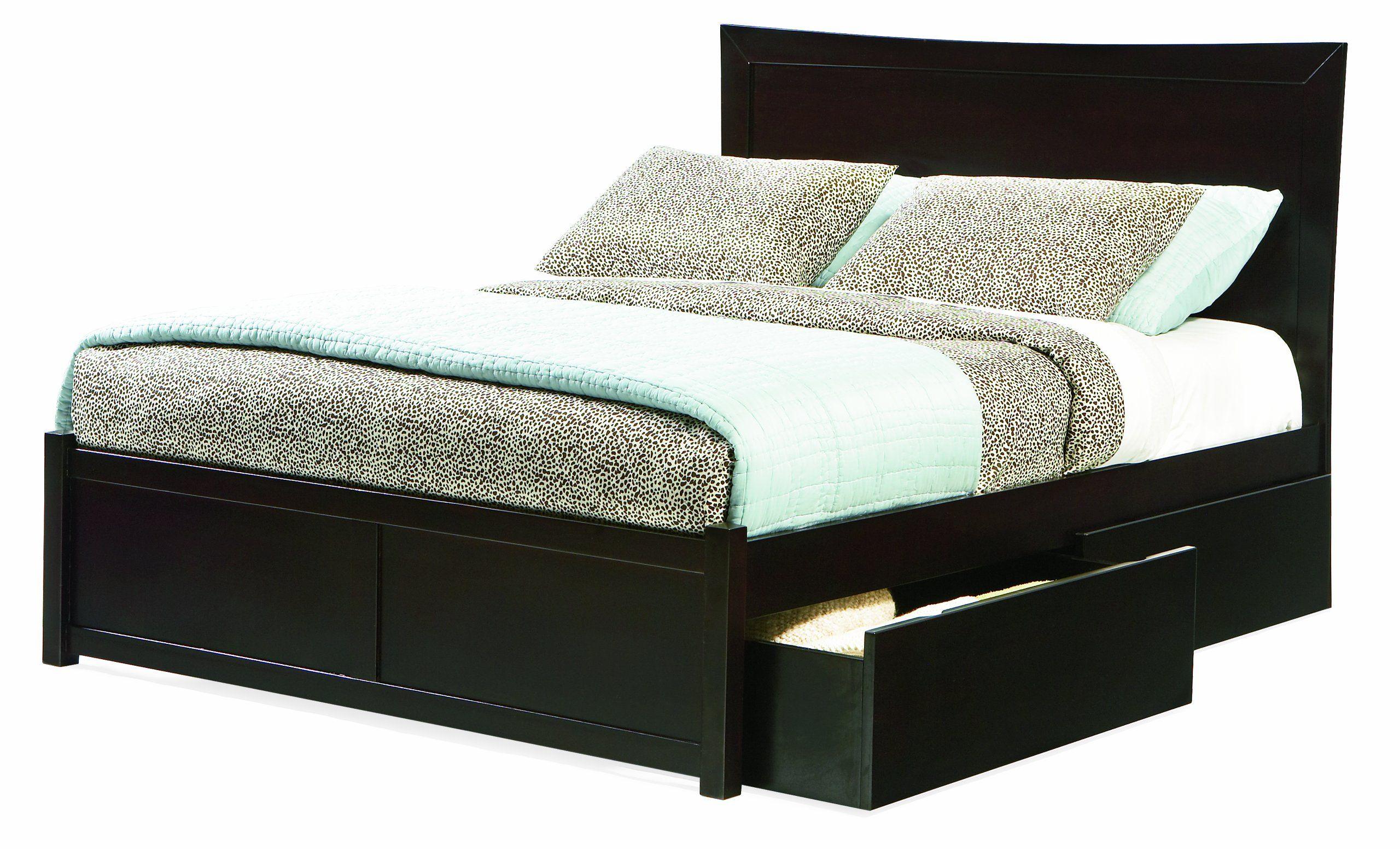 Amazon Com Miami Full Platform Bed With Flat Panel Footboard