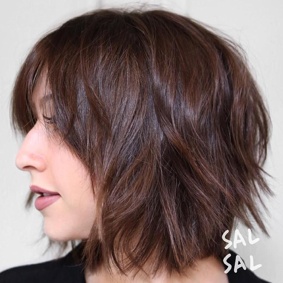 short shag hairstyles that you simply canut miss shaggy bangs