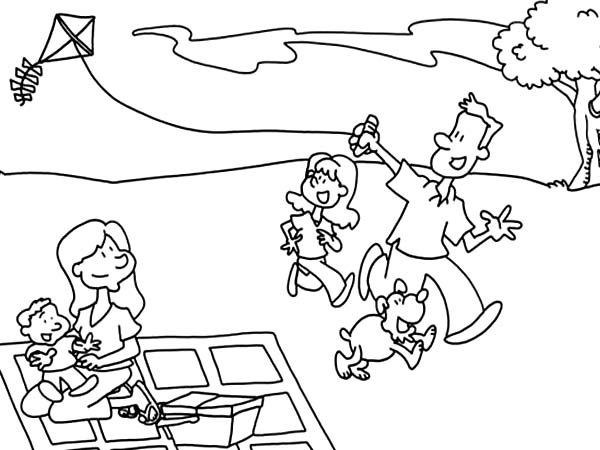 GO FLY A KITE COLORING PAGE! IT'S NATIONAL KITE FLYING DAY
